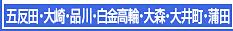 五反田・大崎・品川・白金高輪・大井町・大森・蒲田エステ