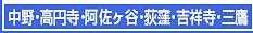 中野・高円寺・阿佐ヶ谷・荻窪・吉祥寺・三鷹エステ