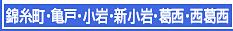 錦糸町・亀戸・小岩・新小岩・葛西・西葛西エステ